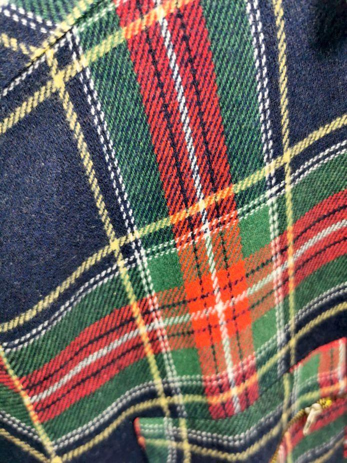 kariertes vintage hemd aus wolle mehrfarbig herren l