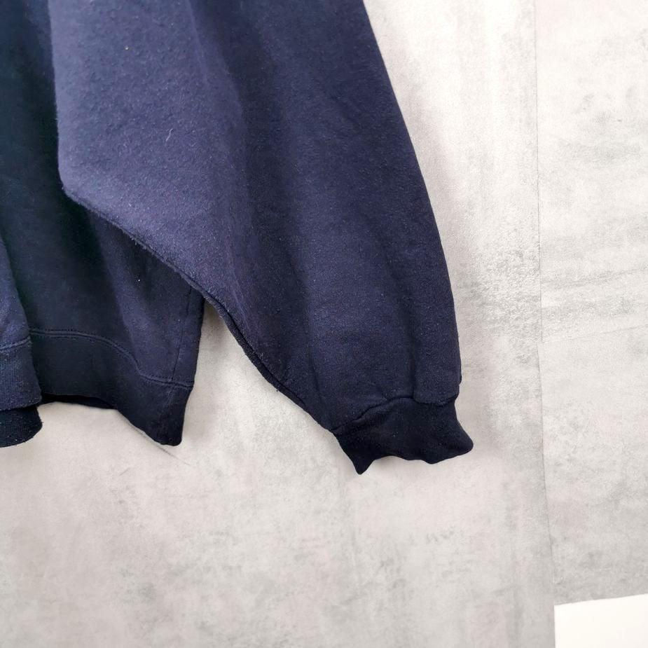 oversize vintage sweater usa starter, übergroesse 3 Xl herren blau 90er kleidung