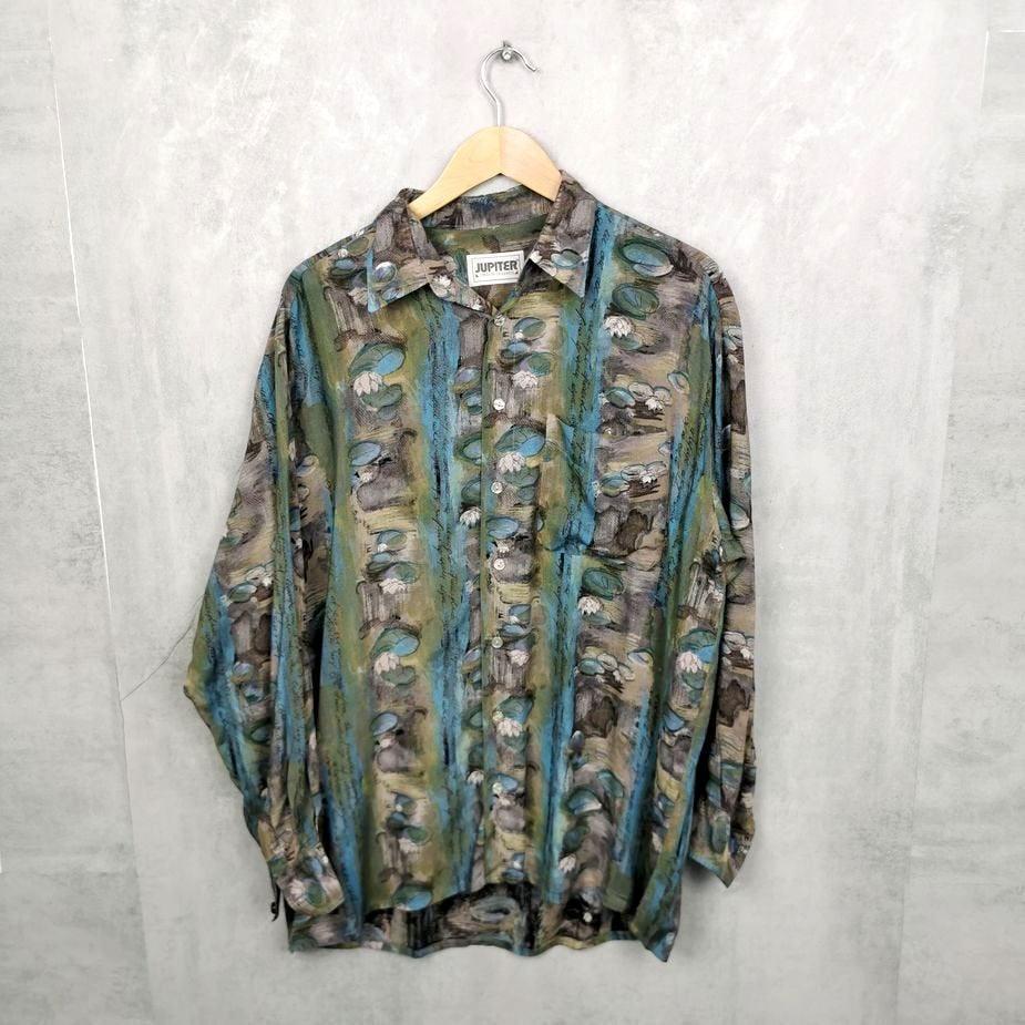 Jupiter by Goldress Florales Herren Vintage hemd groesse l