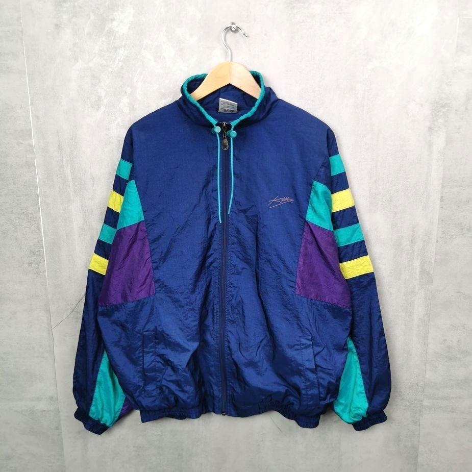 killtec 90er herren vintage jacke nylon glanz xl