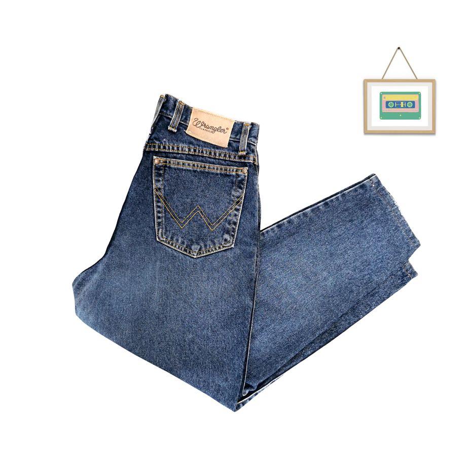 90er-jahre-wrangler-denim-jeans-hoch-taillierte-jeans-w30-dunkelblau-front