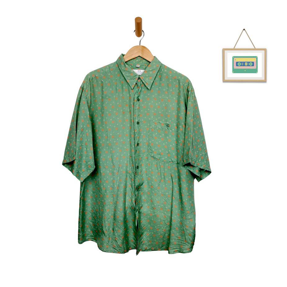 herren-vintage-seidenhemd-grün-gemetrisches-muster-xl-herren-hemden-front