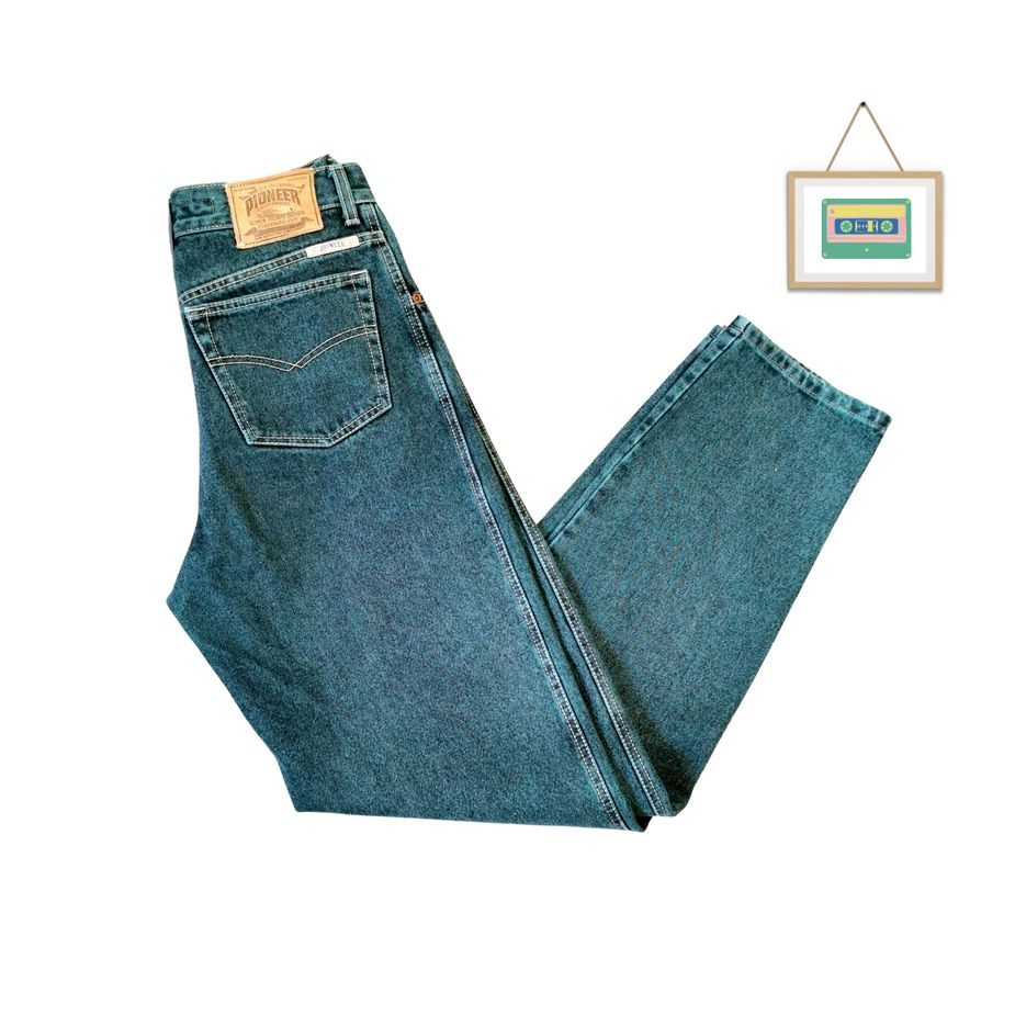 pioneer-herren-vintage-jeans-grüne-groesse-m-front