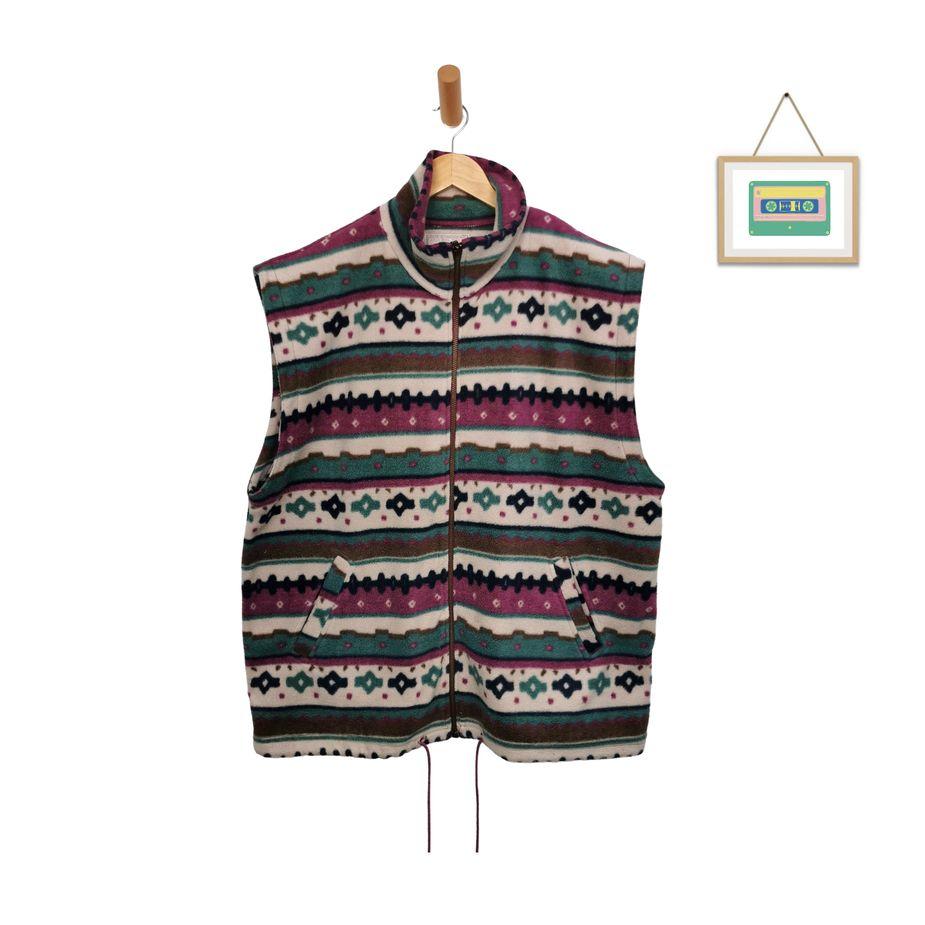 unisex-vintage-fleece-weste-80er-azteken-design-herren-groesse-l-front