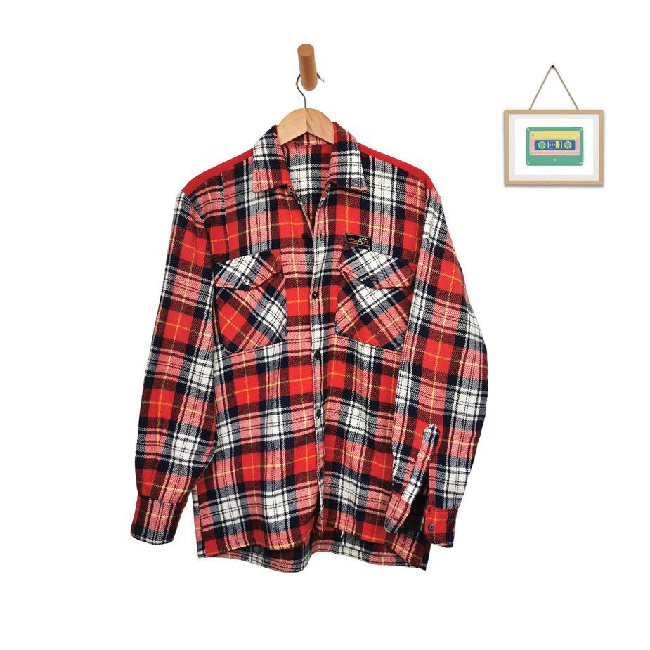 vintage-kariertes-wollhemd-herren-flanell-langarm-hemd-rot-weiß-groesse-m-front