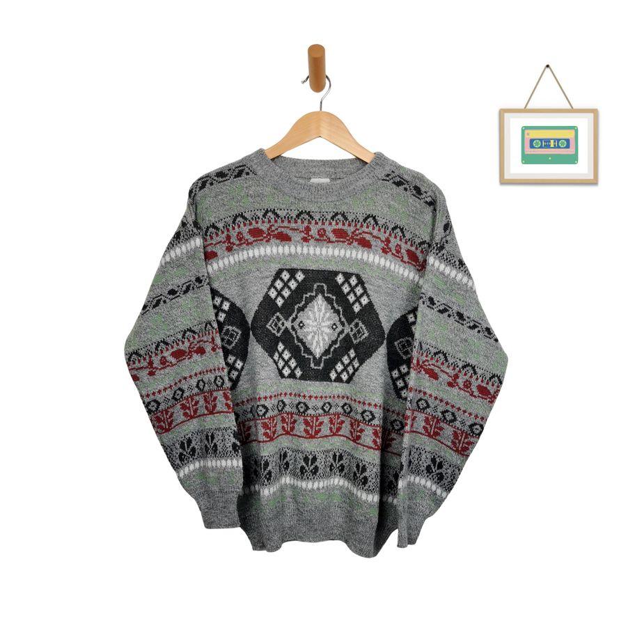 vintage-pullover-wolle-crazy-pattern-mehrfarbig-herren-groesse-l-front