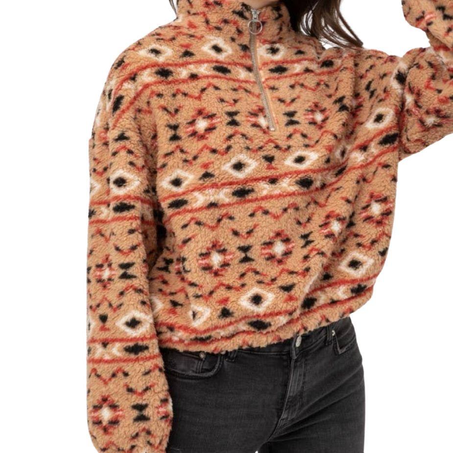 fleecejacke-kurz-mit-reißverschluss-retro-design-sherpa-half-zip-pullover-fit-pic