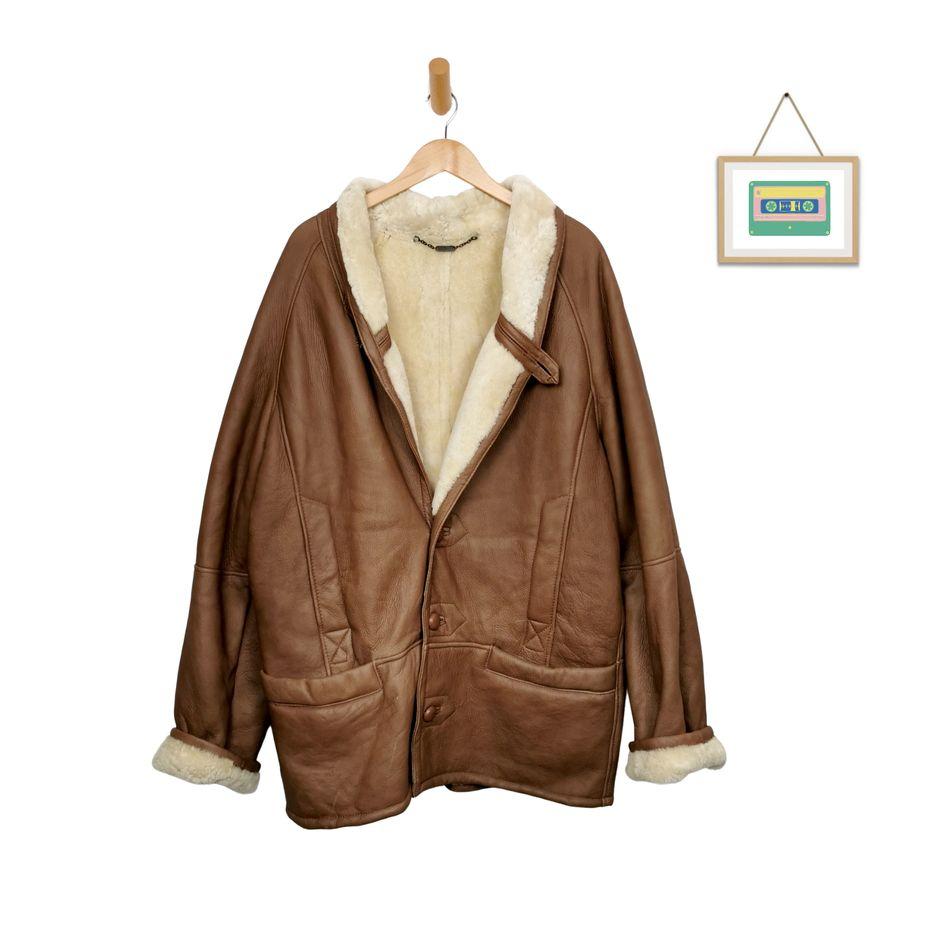 sherpa-echtfell-herren-vintage-mantel-pelz-echtleder-70s-80s-herren-groesse-xl-cognac-winterkleidung-front