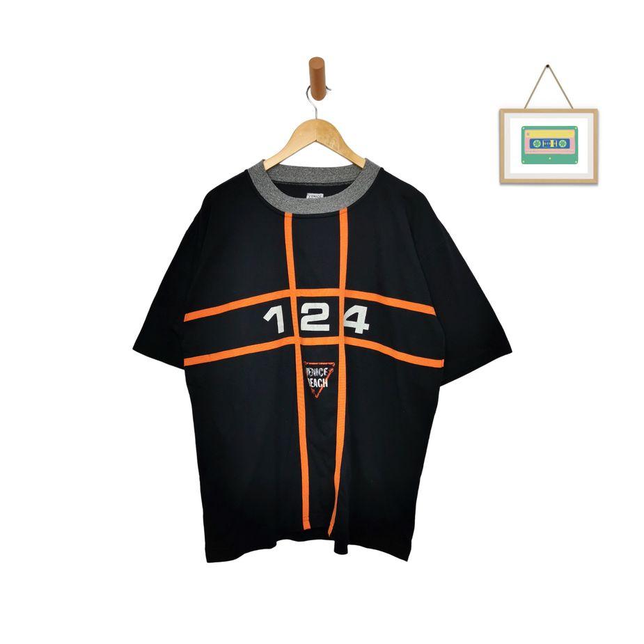 venice-beach-90s-herren-vintage-t-shirt-schwarz-orange-overize-l-front