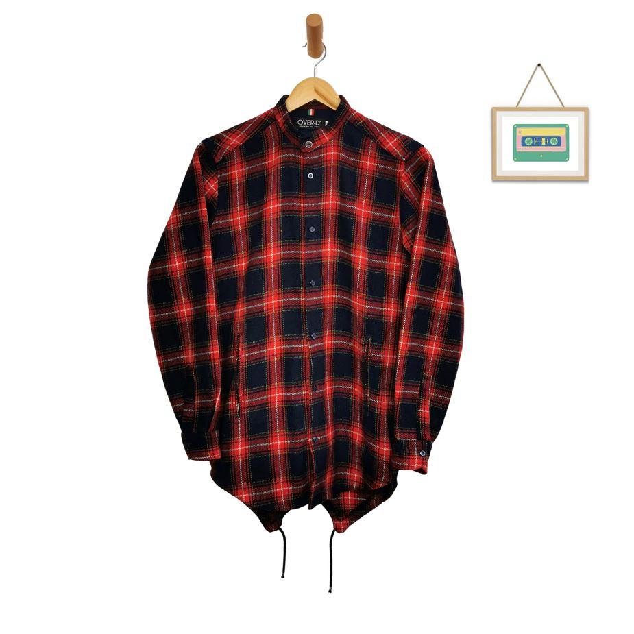 vintage-herren-karohemd-stehkragen-baumwolle-groesse-s-front