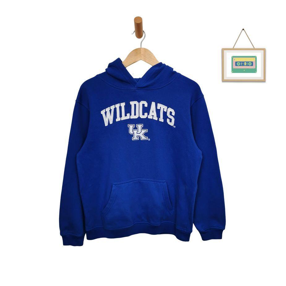 vintage-logo-hoodie-college- kentucky-wildcats-usa-groesse-s-oversize-front