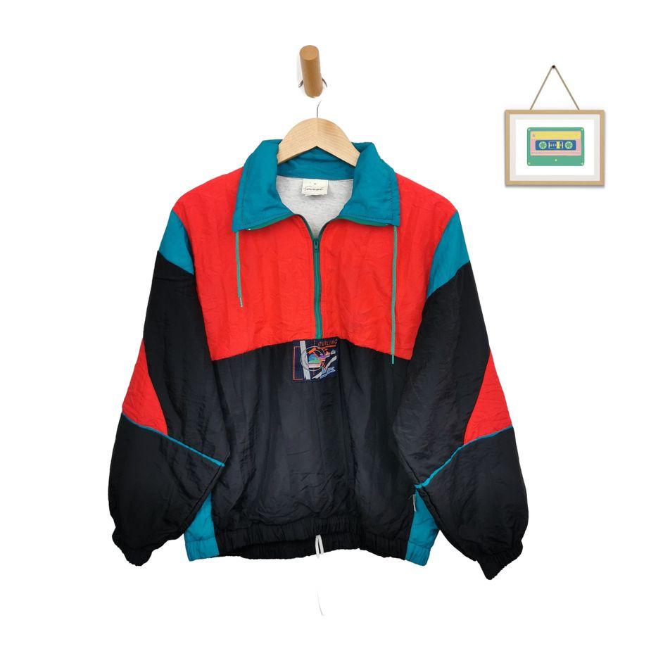 80s-blouson-jacke-gefüttert-nylon-half-zip-jacke-frauen-m-front
