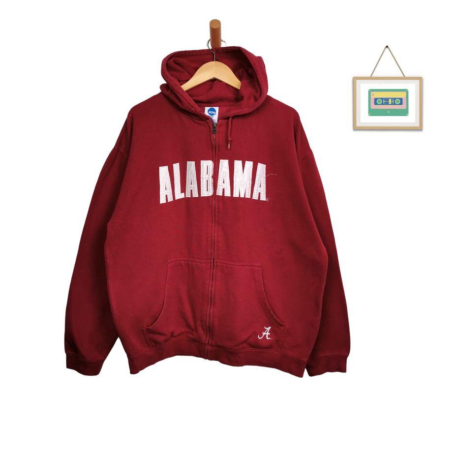 college-vintage-hoodie-jacke-alabama-gesticktes-logo-herren-xl-front
