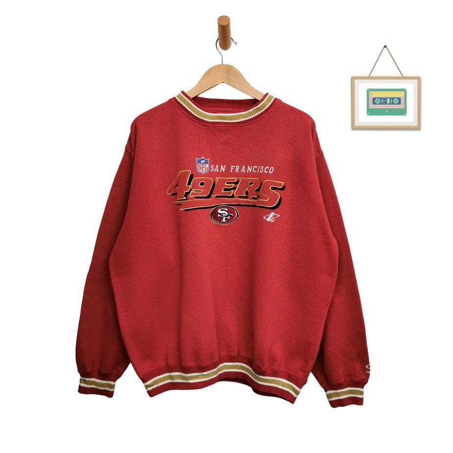 crewneck-nfl-49ers-pro-line-sweater-xl-logo-sweater gestickt-front
