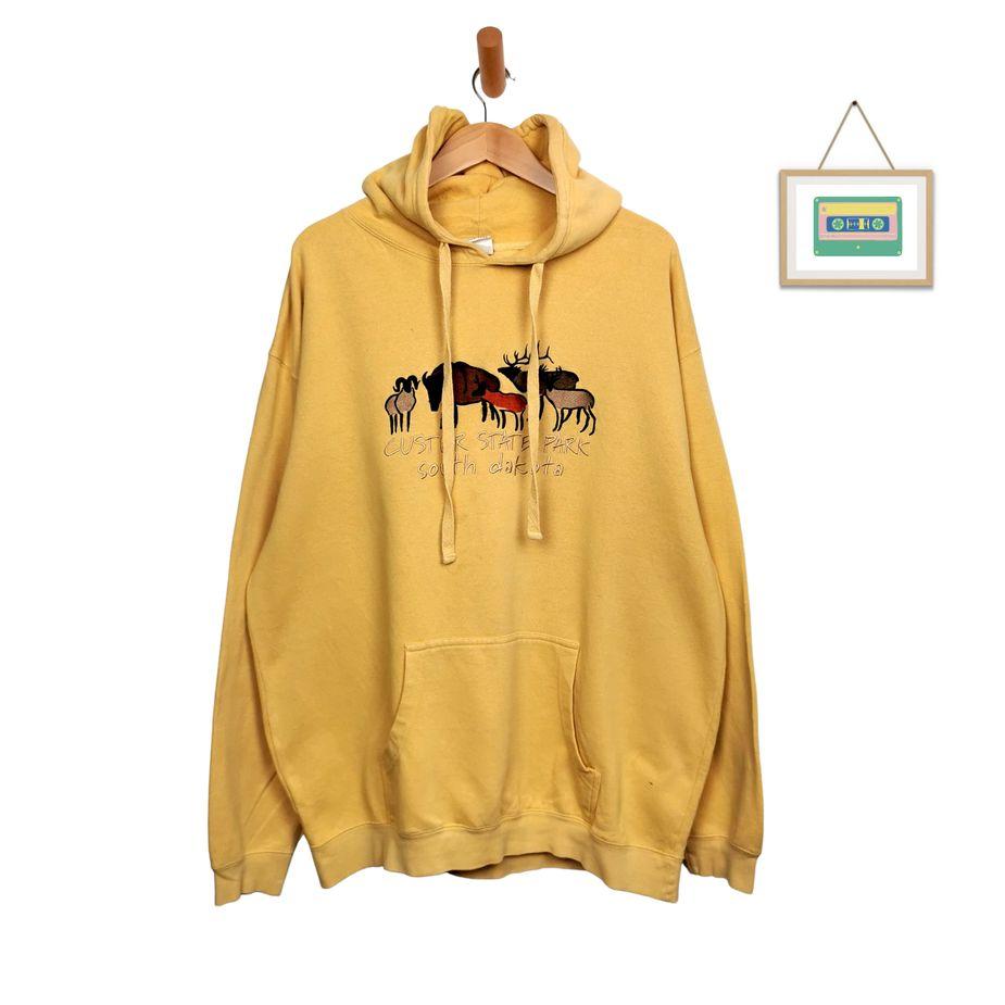 usa-vintage-hoodie-animal-print-gestickt-herren-xl-tall-front